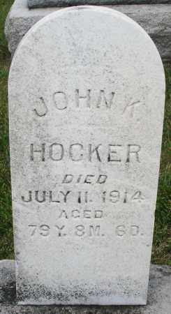 HOCKER, JOHN K. - Montgomery County, Ohio | JOHN K. HOCKER - Ohio Gravestone Photos