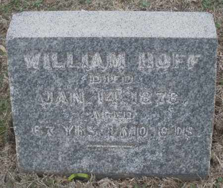 HOFF, WILLIAM - Montgomery County, Ohio | WILLIAM HOFF - Ohio Gravestone Photos