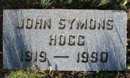 HOGG, JOHN SYMONS - Montgomery County, Ohio | JOHN SYMONS HOGG - Ohio Gravestone Photos