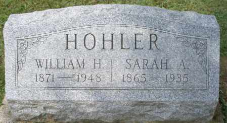 HOHLER, WILLIAM H. - Montgomery County, Ohio | WILLIAM H. HOHLER - Ohio Gravestone Photos