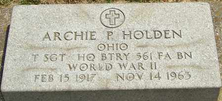 HOLDEN, ARCHIE P - Montgomery County, Ohio | ARCHIE P HOLDEN - Ohio Gravestone Photos