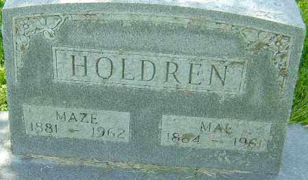 HOLDREN, MAZE - Montgomery County, Ohio | MAZE HOLDREN - Ohio Gravestone Photos