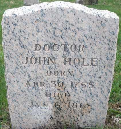 HOLE, JOHN MD - Montgomery County, Ohio | JOHN MD HOLE - Ohio Gravestone Photos