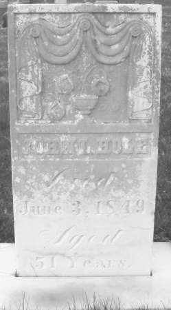 HOLE, JOHN - Montgomery County, Ohio | JOHN HOLE - Ohio Gravestone Photos