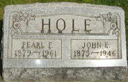 HOLE, JOHN E - Montgomery County, Ohio | JOHN E HOLE - Ohio Gravestone Photos