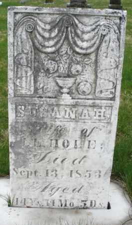 HOLE, SUSANNAH - Montgomery County, Ohio | SUSANNAH HOLE - Ohio Gravestone Photos
