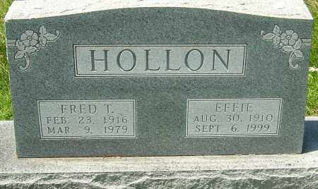 HOLLON, FRED T - Montgomery County, Ohio | FRED T HOLLON - Ohio Gravestone Photos