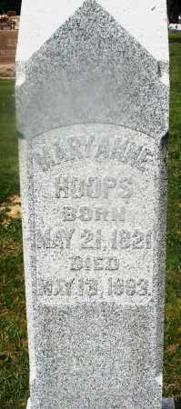 HOOPS, MARY ANNE - Montgomery County, Ohio | MARY ANNE HOOPS - Ohio Gravestone Photos