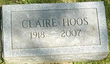 HOOS, CLAIRE - Montgomery County, Ohio | CLAIRE HOOS - Ohio Gravestone Photos