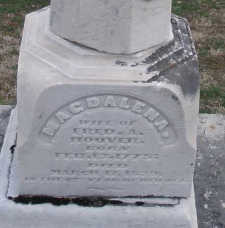 HOOVER, MAGDALENA - Montgomery County, Ohio | MAGDALENA HOOVER - Ohio Gravestone Photos