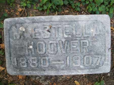 HOOVER, M. ESTELLA - Montgomery County, Ohio | M. ESTELLA HOOVER - Ohio Gravestone Photos