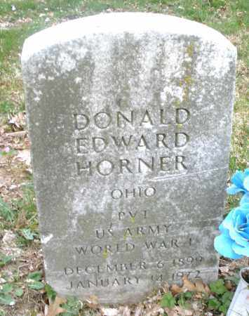 HORNER, DONALD  EDWARD - Montgomery County, Ohio | DONALD  EDWARD HORNER - Ohio Gravestone Photos
