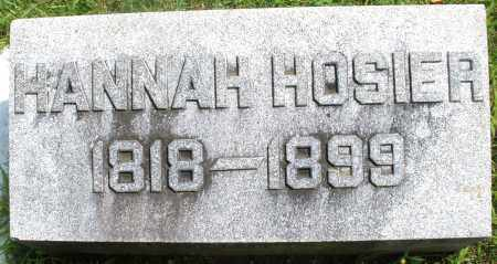 HOSIER, HANNAH - Montgomery County, Ohio | HANNAH HOSIER - Ohio Gravestone Photos