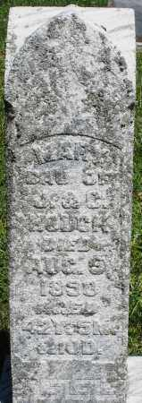 HOUCK, MARY - Montgomery County, Ohio | MARY HOUCK - Ohio Gravestone Photos