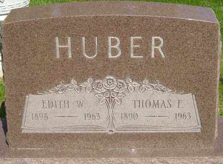 HUBER, EDITH W - Montgomery County, Ohio | EDITH W HUBER - Ohio Gravestone Photos