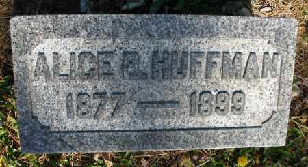 HUFFMAN, ALICE - Montgomery County, Ohio | ALICE HUFFMAN - Ohio Gravestone Photos
