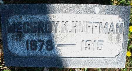 HUFFMAN, MCCURDY K. - Montgomery County, Ohio | MCCURDY K. HUFFMAN - Ohio Gravestone Photos