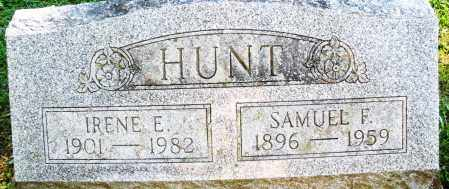 HUNT, SAMUEL F. - Montgomery County, Ohio | SAMUEL F. HUNT - Ohio Gravestone Photos