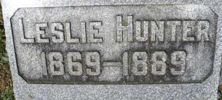 HUNTER, LESLIE - Montgomery County, Ohio | LESLIE HUNTER - Ohio Gravestone Photos