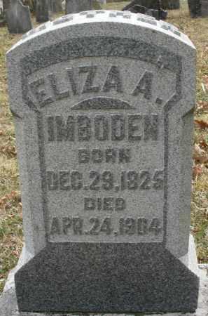 IMBODEN, ELIZA A. - Montgomery County, Ohio | ELIZA A. IMBODEN - Ohio Gravestone Photos
