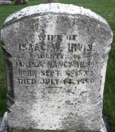 IRVIN, SARAH - Montgomery County, Ohio | SARAH IRVIN - Ohio Gravestone Photos