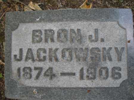 JACKOWSKY, BRON J. - Montgomery County, Ohio | BRON J. JACKOWSKY - Ohio Gravestone Photos