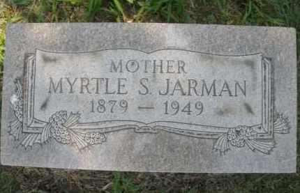 JARMAN, MYRTLE S. - Montgomery County, Ohio | MYRTLE S. JARMAN - Ohio Gravestone Photos