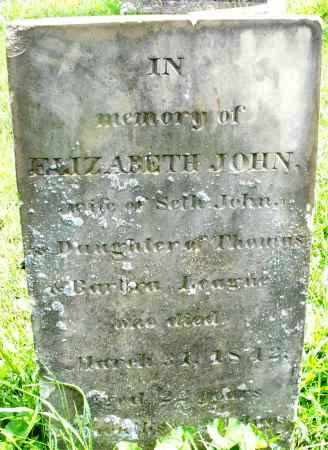 JOHN, ELIZABETH - Montgomery County, Ohio | ELIZABETH JOHN - Ohio Gravestone Photos