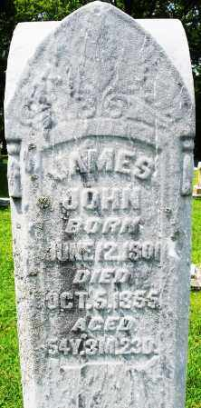 JOHN, JAMES - Montgomery County, Ohio | JAMES JOHN - Ohio Gravestone Photos