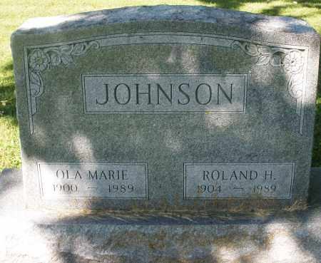 JOHNSON, ROLAND H. - Montgomery County, Ohio | ROLAND H. JOHNSON - Ohio Gravestone Photos
