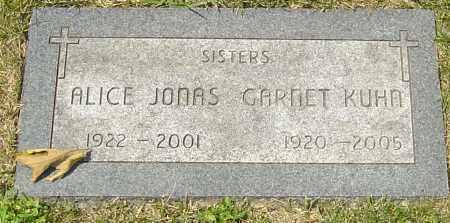 JONAS, ALICE - Montgomery County, Ohio | ALICE JONAS - Ohio Gravestone Photos