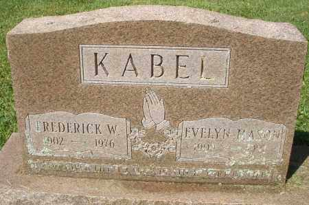 MASON KABEL, EVELYN - Montgomery County, Ohio | EVELYN MASON KABEL - Ohio Gravestone Photos