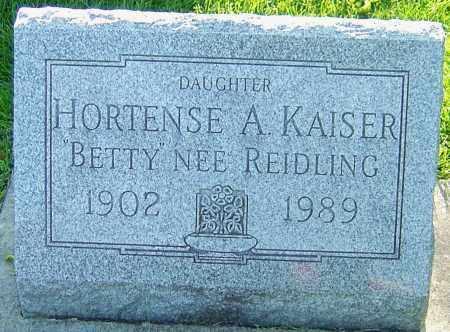 REIDLING KAISER, HORTENSE - Montgomery County, Ohio | HORTENSE REIDLING KAISER - Ohio Gravestone Photos