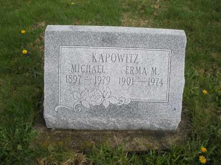 KAPOWITZ, ERMA M. - Montgomery County, Ohio | ERMA M. KAPOWITZ - Ohio Gravestone Photos