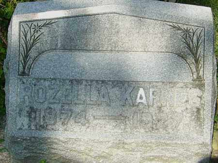 KARNES, ROZELLA - Montgomery County, Ohio | ROZELLA KARNES - Ohio Gravestone Photos
