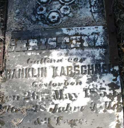 KARSCHNER, CHRISTENA - Montgomery County, Ohio   CHRISTENA KARSCHNER - Ohio Gravestone Photos