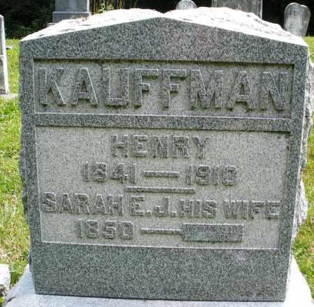 KAUFFMAN, HENRY - Montgomery County, Ohio | HENRY KAUFFMAN - Ohio Gravestone Photos