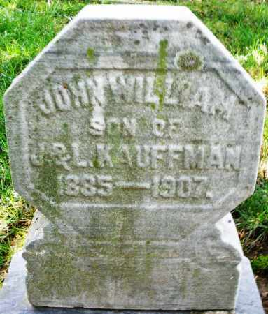 KAUFFMAN, JOHN WILLIAM - Montgomery County, Ohio | JOHN WILLIAM KAUFFMAN - Ohio Gravestone Photos