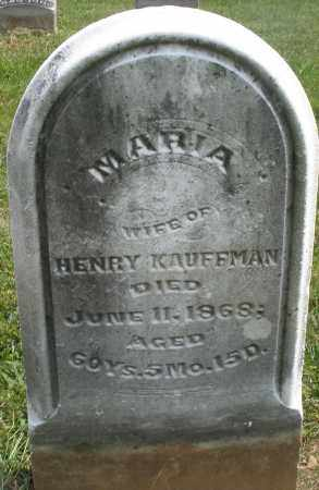 KAUFFMAN, MARIA - Montgomery County, Ohio | MARIA KAUFFMAN - Ohio Gravestone Photos