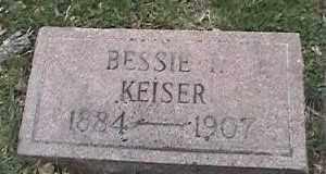 KEISER, BESSIE - Montgomery County, Ohio | BESSIE KEISER - Ohio Gravestone Photos