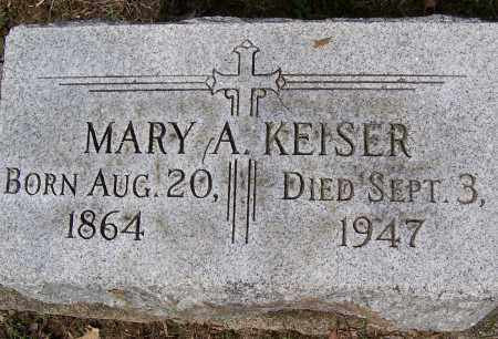 KEISER, MARY A. - Montgomery County, Ohio | MARY A. KEISER - Ohio Gravestone Photos