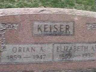 KEISER, ORIAN A. - Montgomery County, Ohio | ORIAN A. KEISER - Ohio Gravestone Photos
