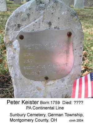 KEISTER, PETER - Montgomery County, Ohio | PETER KEISTER - Ohio Gravestone Photos
