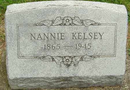 KELSEY, NANNIE - Montgomery County, Ohio | NANNIE KELSEY - Ohio Gravestone Photos