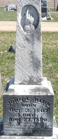 KERN, JOHN C. - Montgomery County, Ohio | JOHN C. KERN - Ohio Gravestone Photos