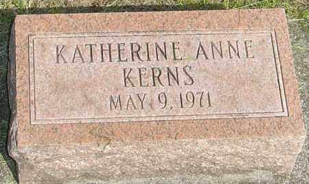 KERNS, KATHERINE ANNE - Montgomery County, Ohio | KATHERINE ANNE KERNS - Ohio Gravestone Photos