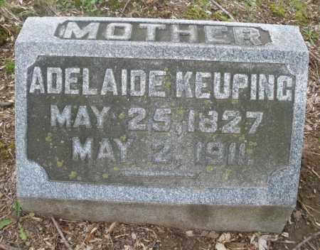 KEUPING, ADELAIDE - Montgomery County, Ohio | ADELAIDE KEUPING - Ohio Gravestone Photos