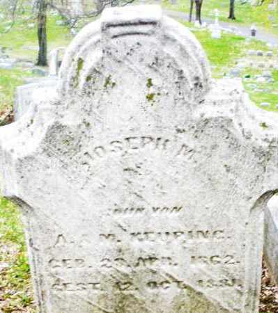 KEUPING, JOSEPH M. - Montgomery County, Ohio   JOSEPH M. KEUPING - Ohio Gravestone Photos