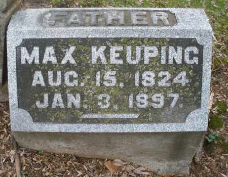 KEUPING, MAX - Montgomery County, Ohio | MAX KEUPING - Ohio Gravestone Photos