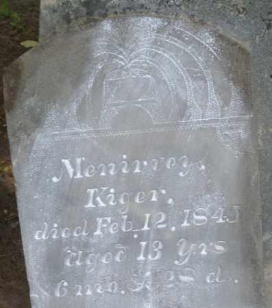KIGER, MENIRVEY - Montgomery County, Ohio | MENIRVEY KIGER - Ohio Gravestone Photos